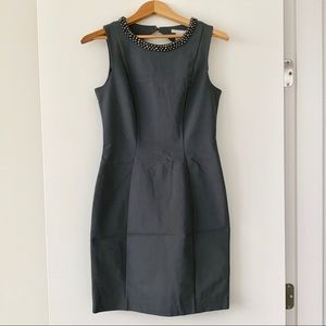 H&M Beaded Neckline Pencil Dress